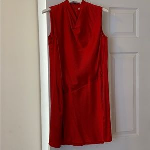 Red silk helmut Lang dress
